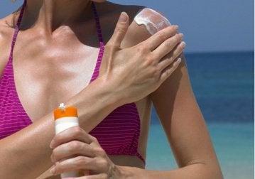 Срещу рака на кожата използвайте слънцезащита.