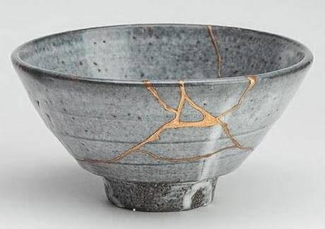 лепене на керамика по с помощта на японска техника