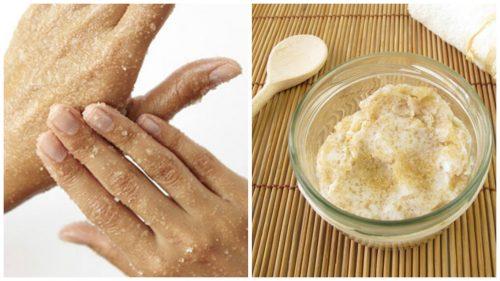 Как да си приготвите натурален захарен скраб за омекотяване на ръцете