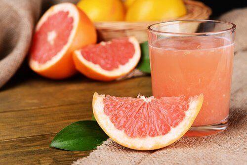 сок от грейпфрут при затлъстял черен дроб