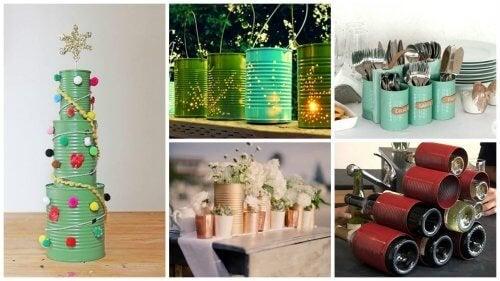 19 креативни начина за рециклиране на консервните кутии
