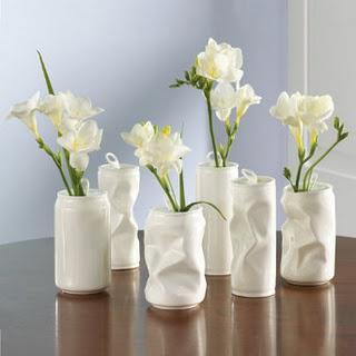 Направа на вази чрез рециклиране на консервни кутии