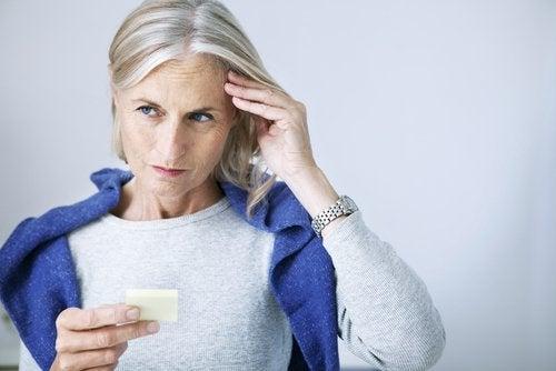 загубата на краткосрочна памет и деменцията