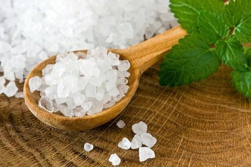 морска сол за дезинфекция на плодове и зеленчуци