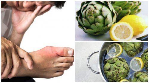 Изчистете пикочната киселина с вода от артишок и лимон