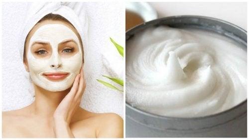 Изчистете дефектите на лицето с тази маска с аспирин и кисело мляко