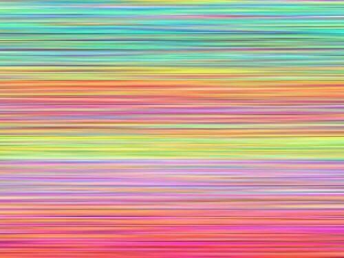 как да освободите съзнанието си - цветни линии върху лист, направени с моливи