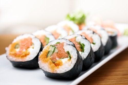 Избягвайте  суши по време на диета