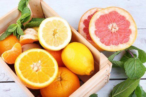 портокал и грейпфрут