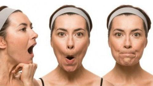 козметични хитрини за перфектно лице - упражнения за стегната кожа