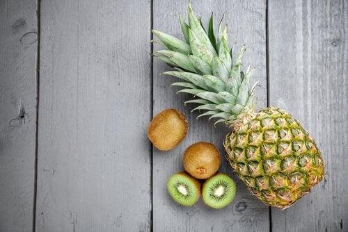 ексфолиране на лицето с плодове