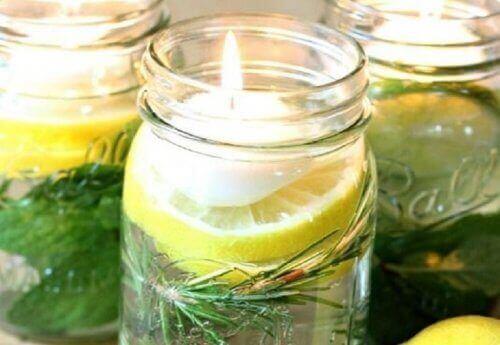 Плаващи ароматни свещи от цитронела