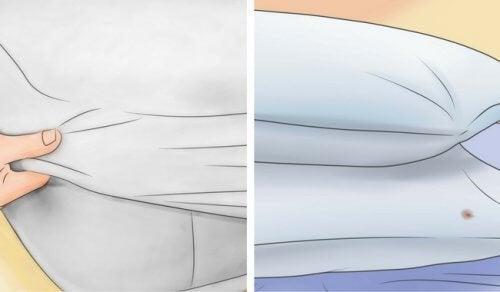 Как да избелите матраците и възглавниците