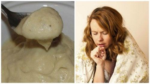 Крем с банани и мед за облекчаване на кашлицата и настинките
