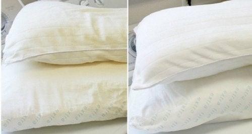 Възглавниците често пожълтяват.
