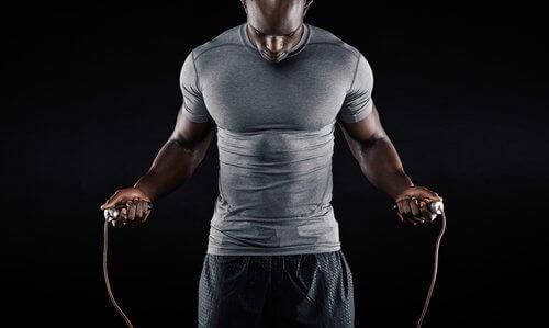 загрявка с въже