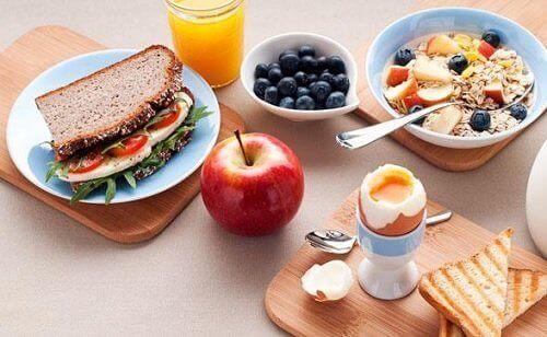 пропорциите за закуска
