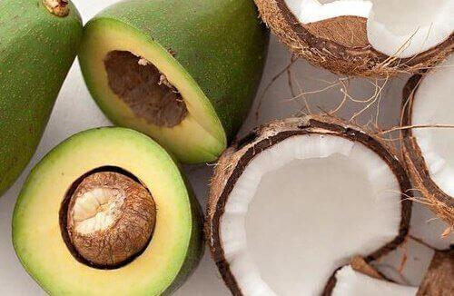 авокадо и кокос
