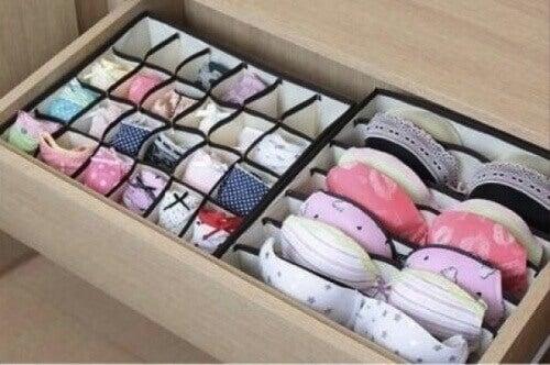 органайзер за бельо в гардероба