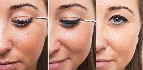 точки спомагащи нанасянето на очна линия