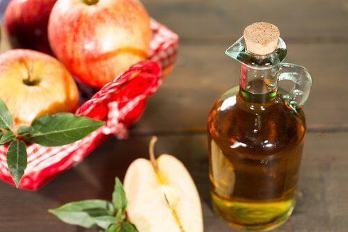 ябълков оцет против гъбичките по кожата
