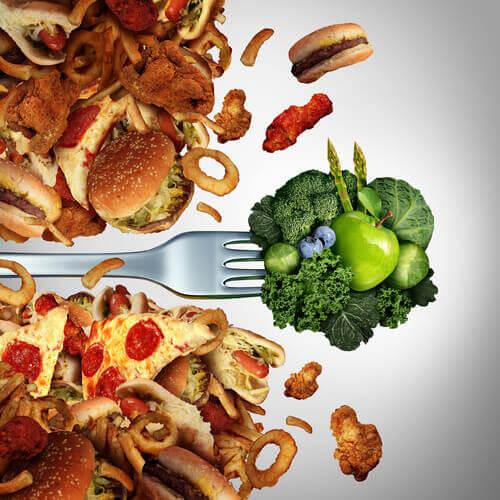 здравословното хранене също помага за тонизиране на ръцете