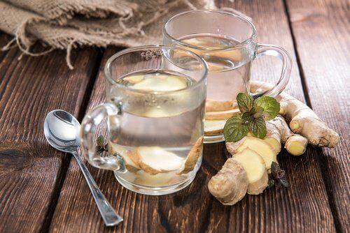 чай с джинджифил и лимон