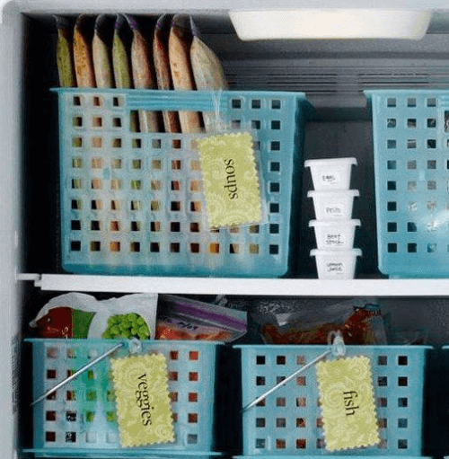 органзирането на къщата - храната във фризера