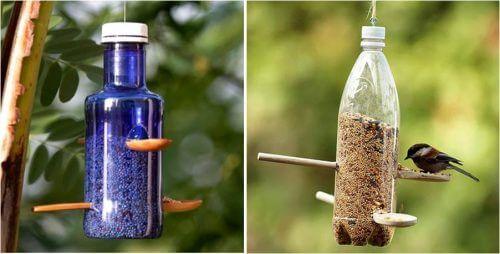 пластмасовите бутилки могат да послужат за осигуряване на храна за птичките