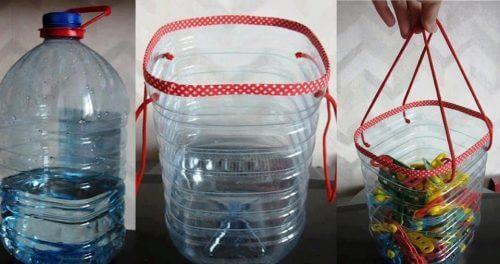 пластмасовите бутилки могат да се превърнат в кошници