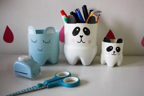 пластмасовите бутилки могат да се превърнат в интересни моливници