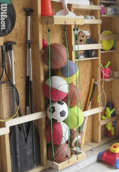 организирането на къщата - спортните атрибути