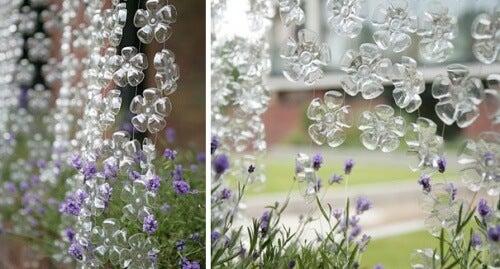 завеси в градината чрез пластмасовите бутилки