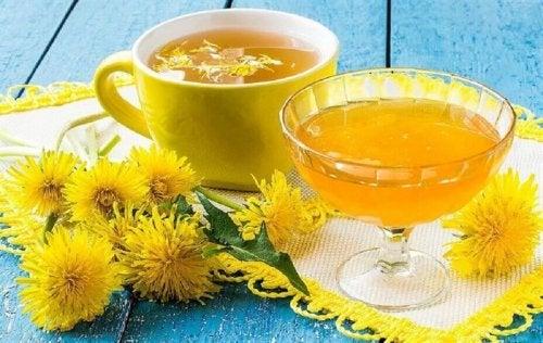 чай от глухарче при възпаление на черния дроб