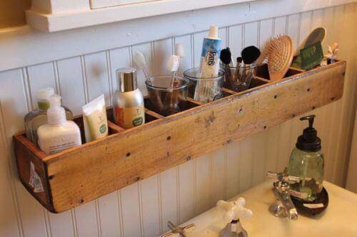 окачаването на оргганайзери във вашата баня