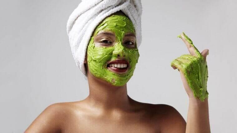 маска с авокадо