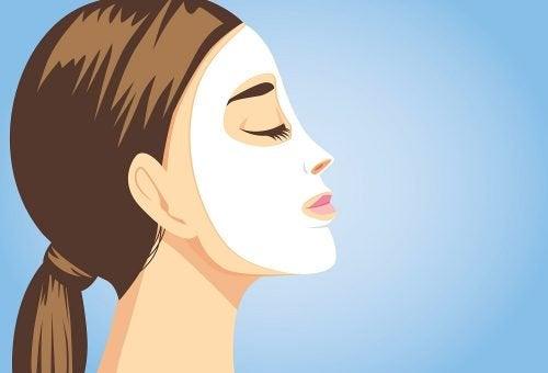 Натурални маски за лице за мигновен блясък