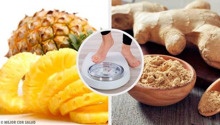 Отслабване със смути от ананас и джинджифил