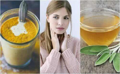 Как да лекувате възпаление на гърлото с 6 натурални съставки