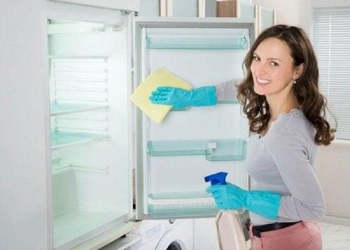 премахване неприятната миризма в хладилника с оцет и сода за хляб