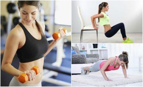 Стегнете отпуснатите ръце чрез тези 6 лесни упражнения