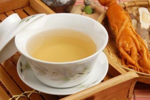 чай от женшен за детоксикация на дебелото черво