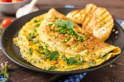 Омлетът със зеленчуци е прекрасен вариант за закуска за болните от диабет