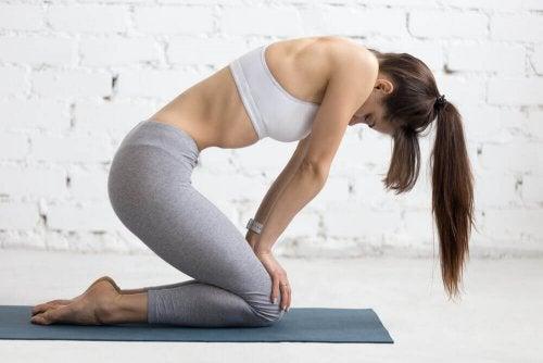 правете специални упражнения, за да контролирате диастаза ректи