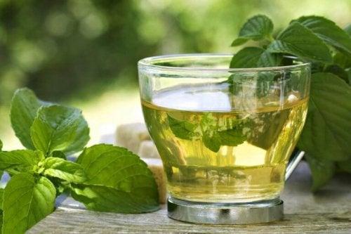 чай от мента и зелен чай