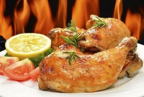 Рецепта за пилешко с портокал и розмарин