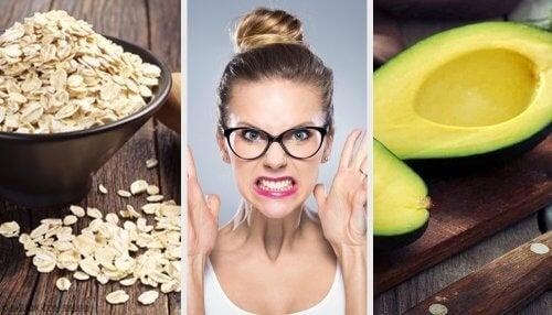 Редица храни спомагат овладяването на неприятни състояния като депресии, стрес и тревожност.