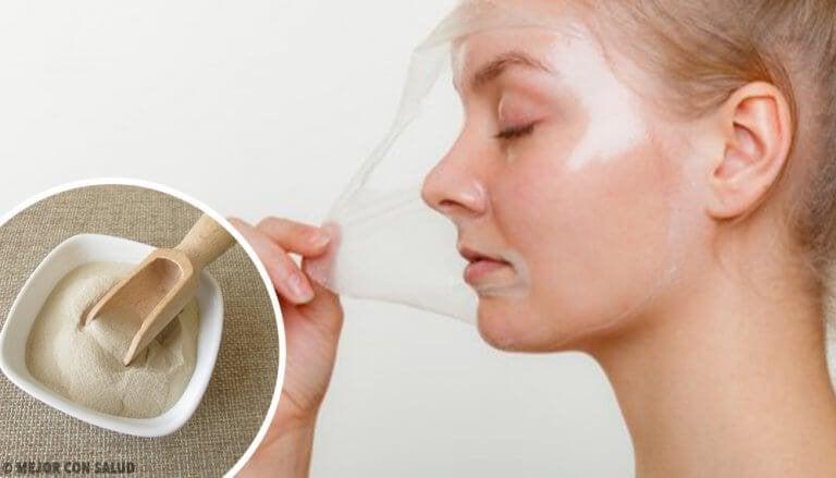 4 пилинг маски с желатин за възстановяване на кожата на лицето