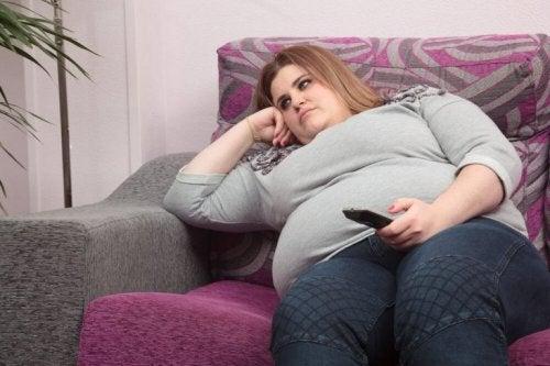 Снимка на затлъстяла жена