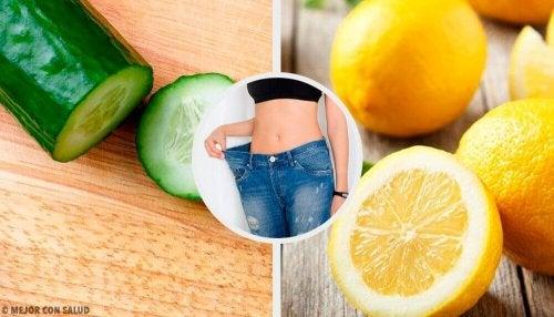 Смути за ефективно отслабване с краставица, лимон и мента